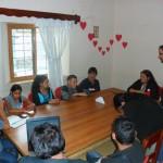Produzindo um vídeo participativo com os jovens da Rede de Huehuetenango - o tema escolhido por eles foi a insegurança cidadã